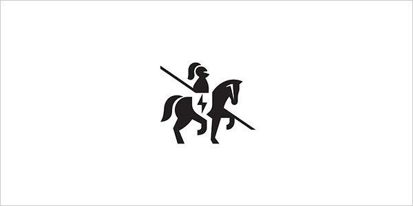 Horse-Negative-Space-Logo-Design